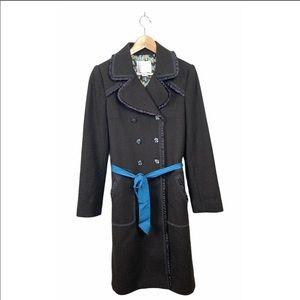 Rebecca Taylor Brown Wool Blend Coat Size 6